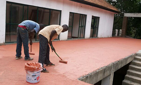 Waterproofing of Terrace using Zahabiya Water Shield